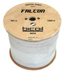 BiCoil коаксиальный кабель RG59 FALCON Cu