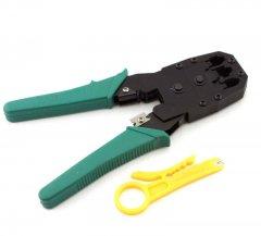 Инструмент MLT-4 для обжимки RJ-45 (8P8C) и RJ-12/11 (6P6C) 4P4C, Зеленые