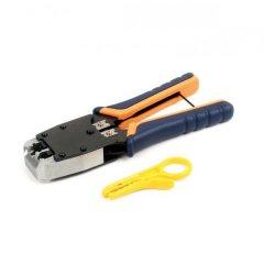 Инструмент HT-500 для обжимки RJ-45 (8P8C) и RJ-12/11 (6P6C), резиновые ручки, профи качество